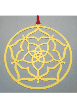 fleur de vénus en acier-or