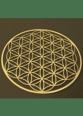 fleur de vie en or