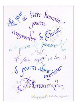 calligraphie Comprendre le Christ - Jane Sullivan