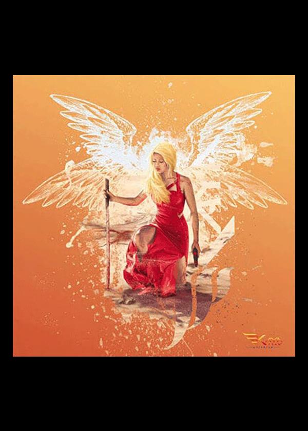 carte postale Kaya Ailes orange - Kaya Team Universe