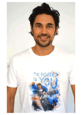 t-shirt homme The Hero is You blanc - Kaya Team Universe
