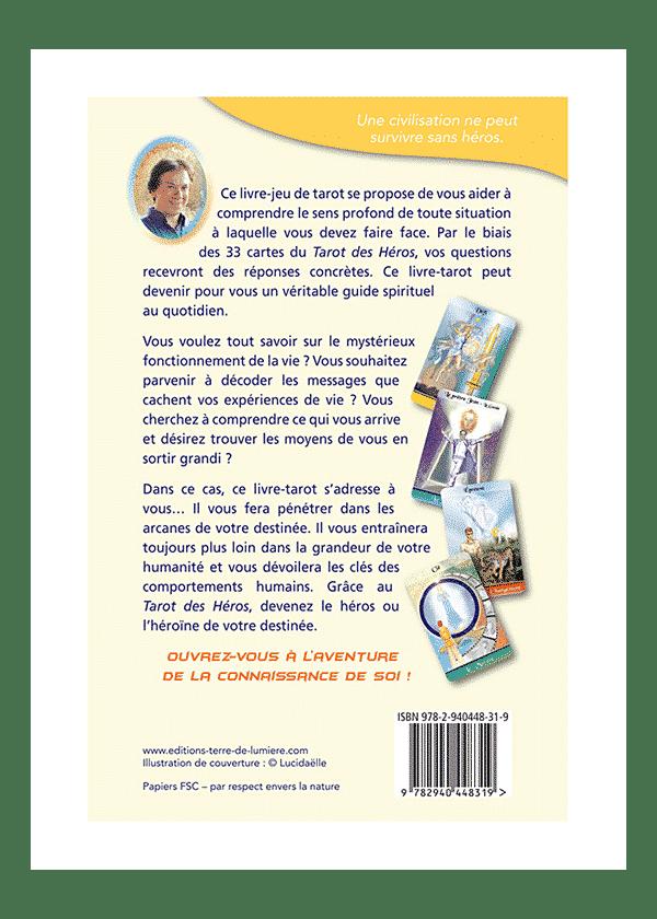 livre et cartes Le Tarot des Héros couverture - Pierre Lassalle
