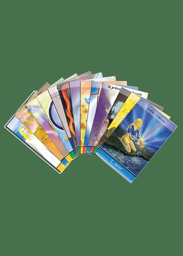 livre et cartes Le Tarot des Héros cartes - Pierre Lassalle