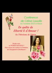 cd mp3 conférence En quête de Liberté et d'Amour Voiron