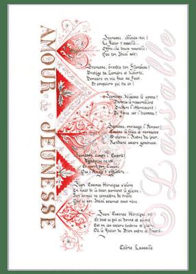 calligraphie Amour de Jeunesse - Claire Biteau Guillemain