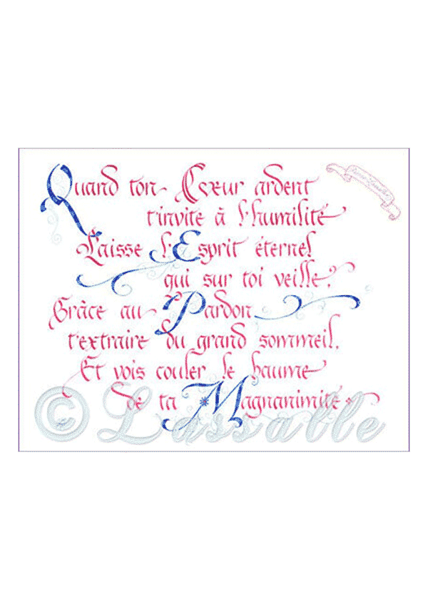 calligraphie Coeur ardent - Jane Sullivan