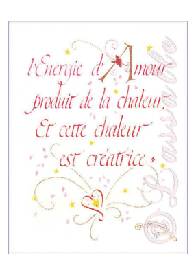calligraphie Energie d'Amour - Jane Sullivan