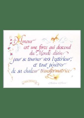 calligraphie L'Amour est une Force - Jane Sullivan