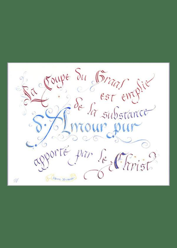 calligraphie La Coupe du Graal - Jane Sullivan