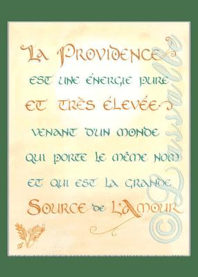 calligraphie La Providence - Jane Sullivan