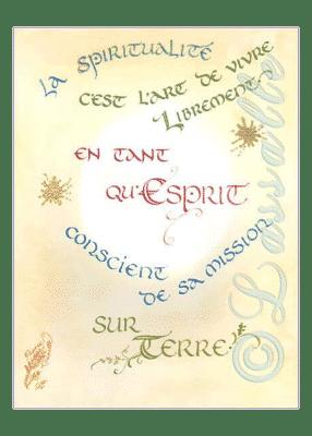 calligraphie La spiritualité, un Art - Jane Sullivan