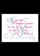 calligraphie La Loi des Destinées - Jane Sullivan