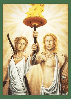 poster Artémis et Apollon - Lucidaëlle