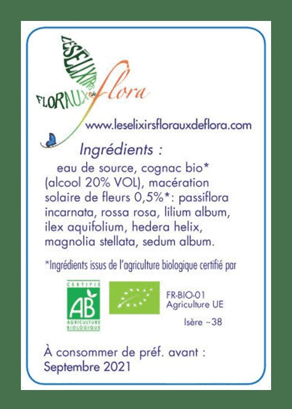 elixir florale Héroïsme Amour Femme ingrédients
