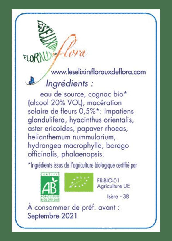 elixir florale L'Aventure Héroïque ingrédients