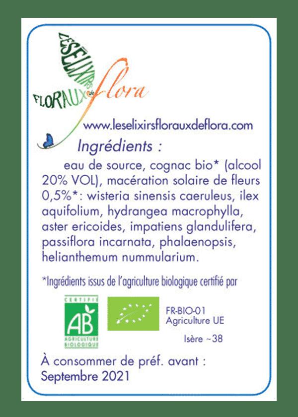 elixir florale La Vie Spirituelle ingrédients