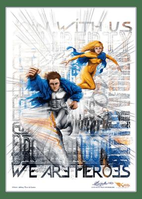 poster Duo Super Heroes - Kaya Team Universe