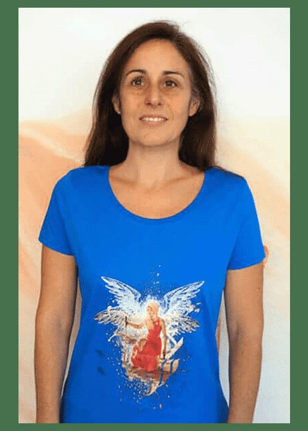 t-shirt femme Kaya Ailes bleu royal - Kaya Team Universe