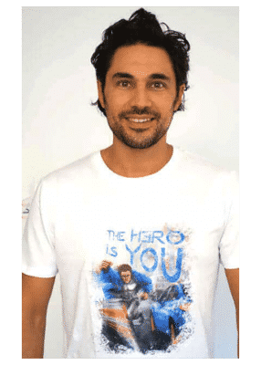 t-shirt homme The Hero is You blanc - Kaya Team Universe