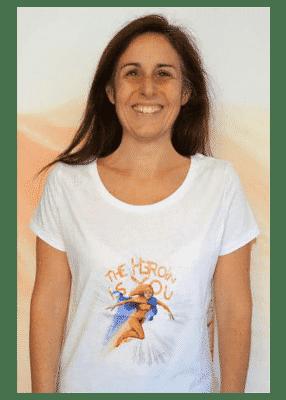t-shirt femme The Heroin is You blanc - Kaya Team Universe