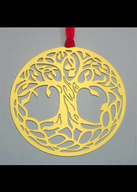 arbre de vie en acier-or